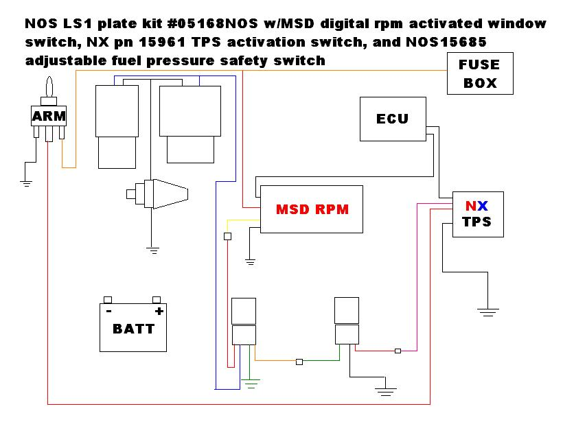 nitrous wiring diagram please check z06vette com corvette z06 click image for larger version nos diagram jpg views 24360 size